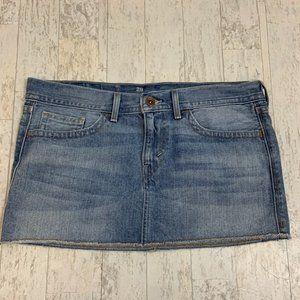 Levi's Mini Jean Skirt 29 Raw Hem